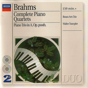 Beaux Arts Trio & Walter Trampler - Johannes Brahms: Complete Piano Quartets, Op. 25, 26, 60; Piano Trio in A (1996) 2CDs
