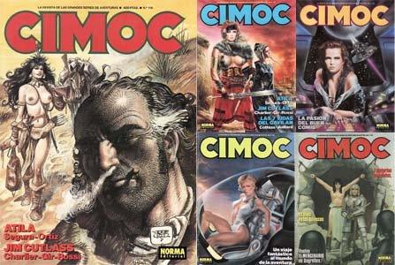 Revista Cimoc #116 to #120 (1989)