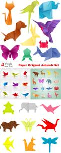 Vectors - Paper Origami Animals Set