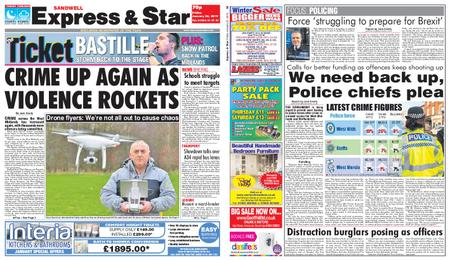 Express and Star Sandwell Edition – January 25, 2019