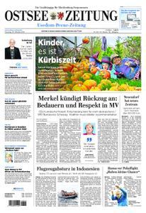 Ostsee Zeitung Wolgast - 30. Oktober 2018
