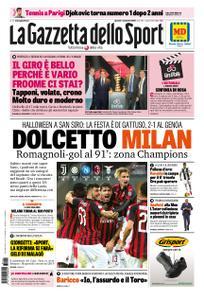 La Gazzetta dello Sport – 01 novembre 2018