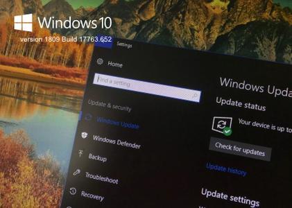Windows 10 version 1809 Redstone 5 Build 17763.652
