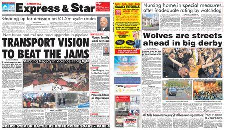 Express and Star Sandwell Edition – October 16, 2017