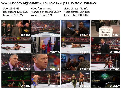 WWE Monday Night Raw 28/12/2009