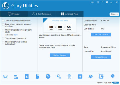 Glary Utilities Pro 5.60.0.81 DC 22.09.2016 Multilingual Portable