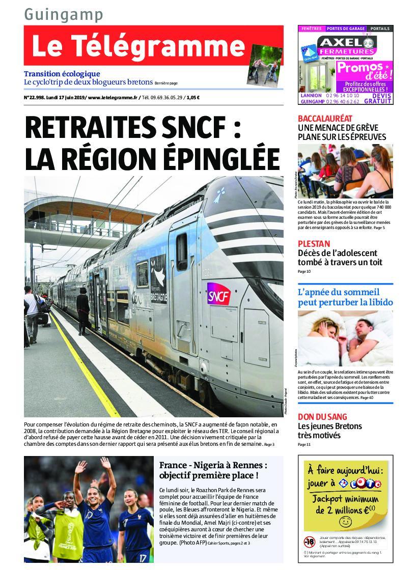Le Télégramme Guingamp – 17 juin 2019