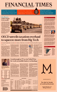 Financial Times Europe – 10 October 2019