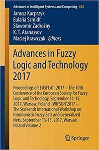 Advances in Fuzzy Logic and Technology 2017: Proceedings of: EUSFLAT-2017, Volume 2