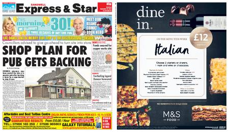 Express and Star Sandwell Edition – September 29, 2018