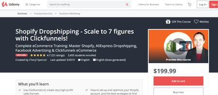 Shopify Dropshipping - Scale to 7 figures with Clickfunnels! (2019)