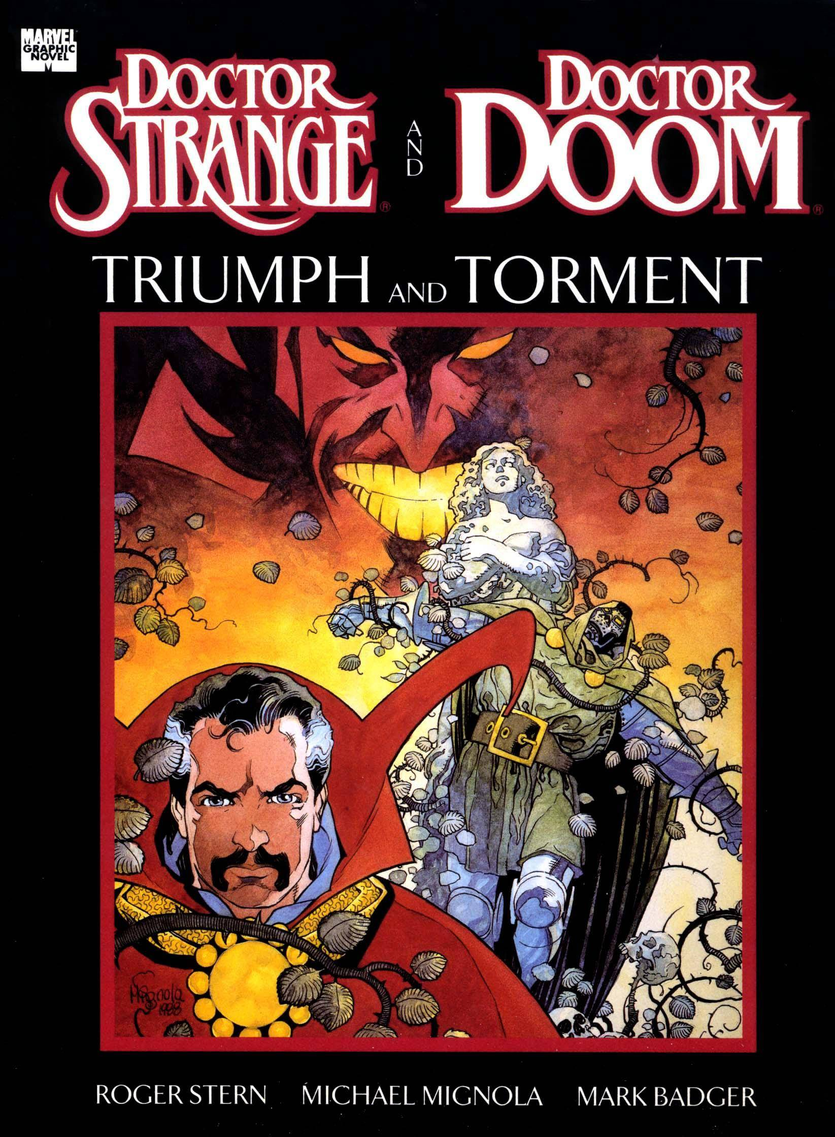 Marvel Graphic Novel 49 - Dr Strange  Dr Doom - Triumph  Torment 1989
