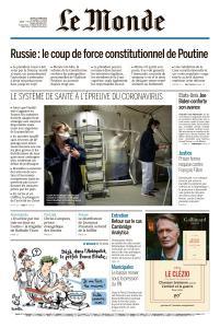 Le Monde du Jeudi 12 Mars 2020