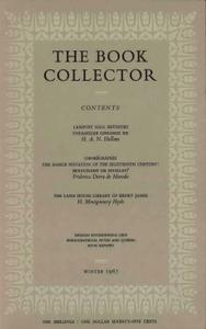 The Book Collector - Winter, 1967