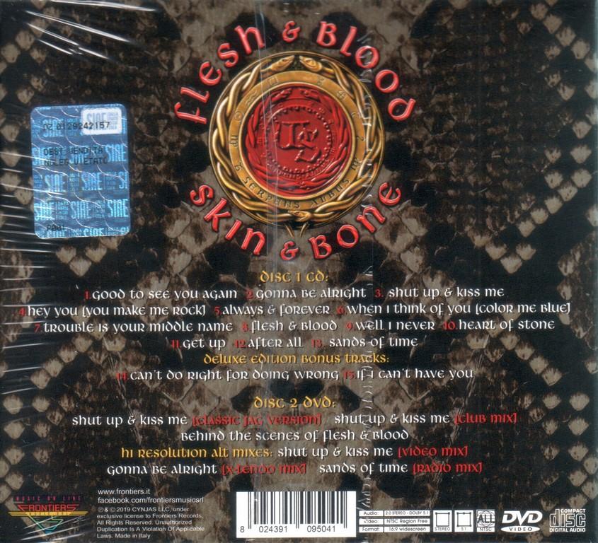 Whitesnake Flesh Amp Blood 2019 Cd Dvd Deluxe Edition