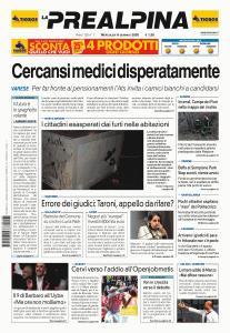 La Prealpina - 8 Gennaio 2020