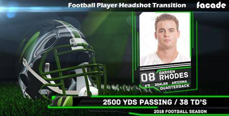 Football Player Headshot Transition - Project for After Effects (VideoHive)