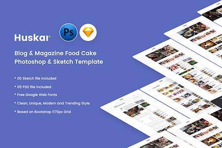 HUSKAR - Blog & Magazine Cake, Food Template