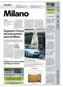 la Repubblica Milano - 3 Luglio 2018