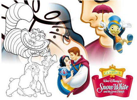 Original Disney EPS cliparts and HighRes CMYK TIF Package Artwork