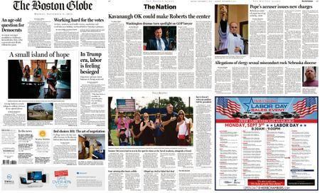 The Boston Globe – September 03, 2018