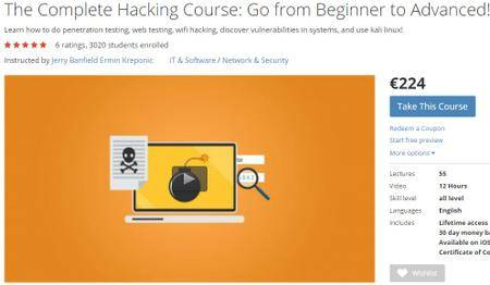 The Complete Hacking Course: Go from Beginner to Advanced! [repost]