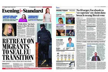 London Evening Standard – March 19, 2018