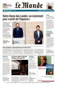 Le Monde du Vendredi 19 Janvier 2018