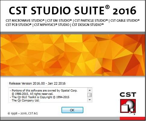 CST Studio Suite 2016 SP1