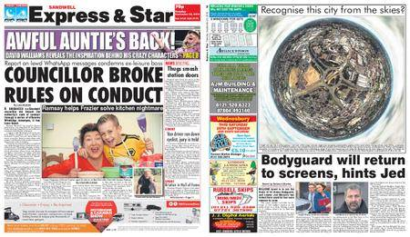 Express and Star Sandwell Edition – September 25, 2018