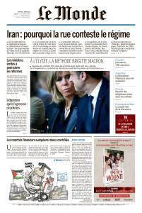 Le Monde du Mercredi 3 Janvier 2018