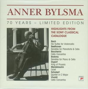 Anner Bylsma - 70 Years. Limited Edition (Highlights From The Sony Classical Catalogue)  (2004) (11 CDs Box Set)