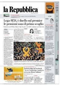 la Repubblica - 26 Marzo 2018