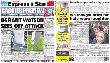 Express and Star Sandwell Edition – August 07, 2018