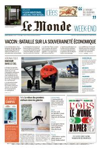 Le Monde du Samedi 16 Mai 2020