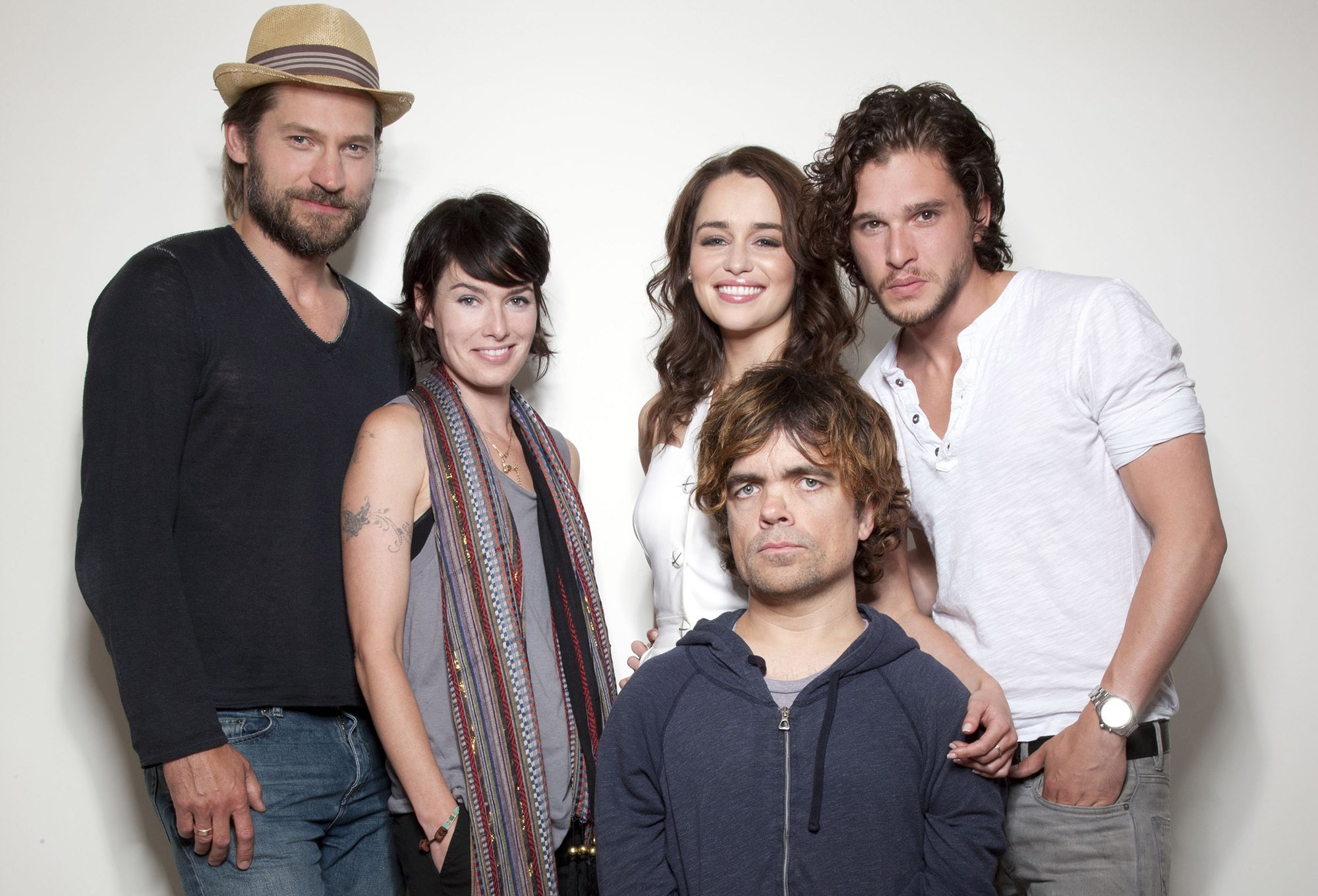 Emilia Clarke, Kit Harrington, Lena Headey, Nikolaj Coster-Waldau & Peter Dinklage by Jason O'Dell at the 2011 Comic-Con