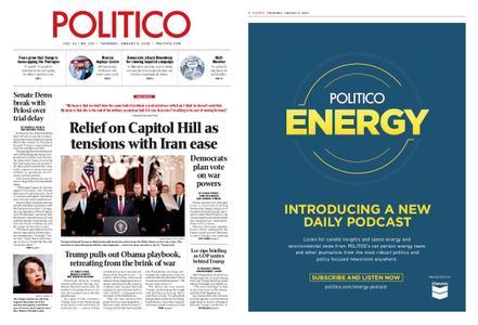 Politico – January 09, 2020