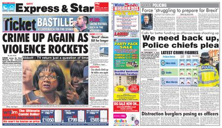 Express and Star City Edition – January 25, 2019