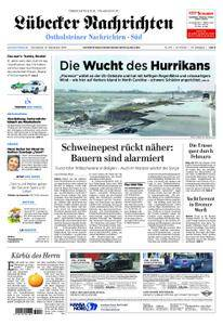 Lübecker Nachrichten Ostholstein Süd - 15. September 2018
