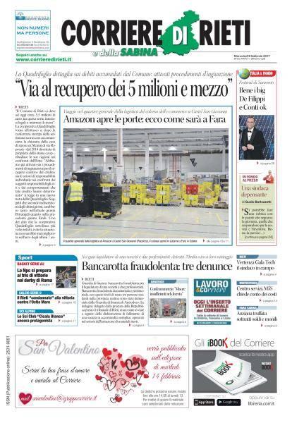Corriere di Rieti - 8 Febbraio 2017