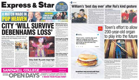 Express and Star City Edition – January 11, 2020