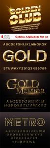 Vectors - Golden Alphabets Set 30