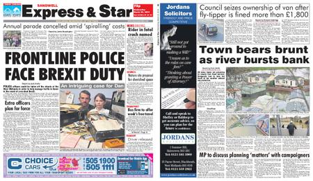 Express and Star Sandwell Edition – March 20, 2019