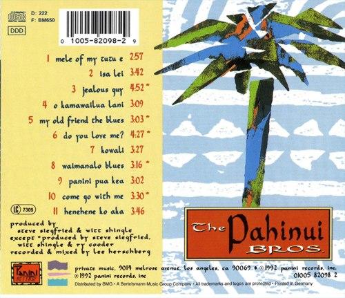 The Pahinui Bros feat. Jim Keltner, David Lindley & Ry Cooder