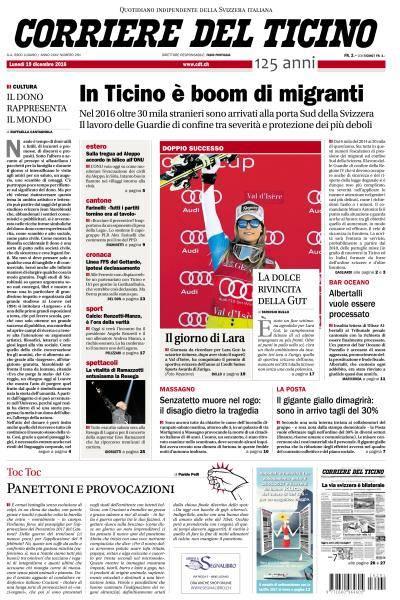Corriere del Ticino - 19 Dicembre 2016