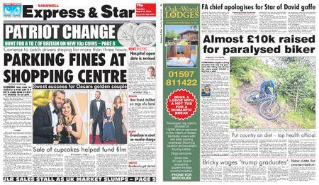Express and Star Sandwell Edition – March 06, 2018