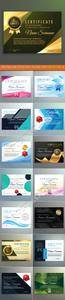 Diploma and certificate design template vector 16