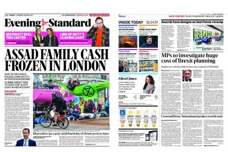 London Evening Standard – April 18, 2019
