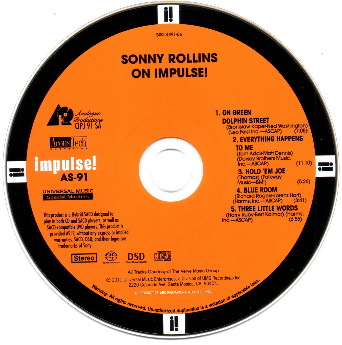 Sonny Rollins - On Impulse! (1965) [Analogue Productions Remastered 2011]