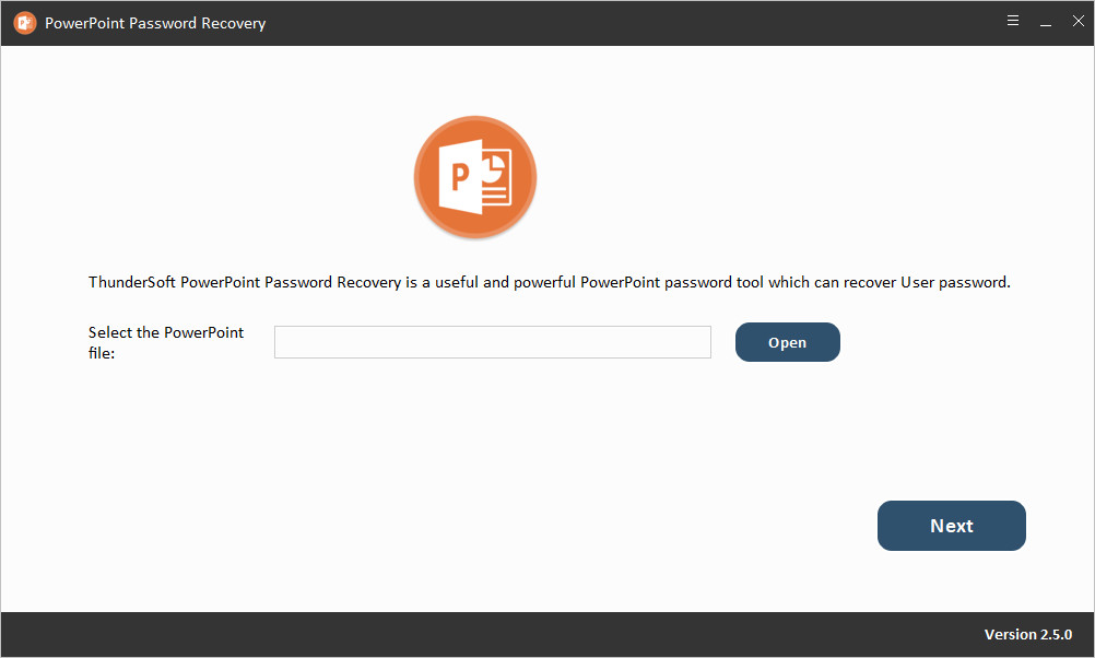 ThunderSoft PowerPoint Password Recovery 2.5.0